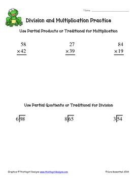 Multiplication & Division Worksheets (double digit)