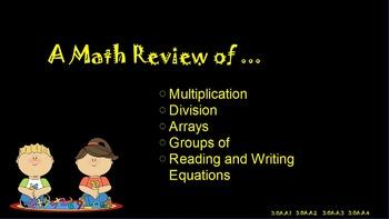 Multiplication & Division Review ~ Promethean Flip Chart ~