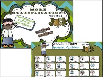 Multiplication & Division with Duck Dynasty Smart Board Le