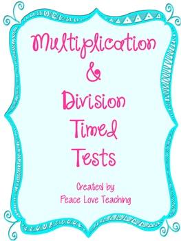 Multiplication & Division Tests