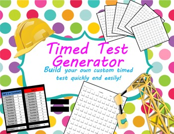 Timed Test and Key Generator for Multiplication, Division