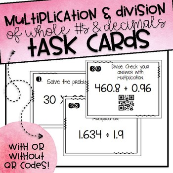 Multiplication & Division of Whole Numbers and Decimals Ta