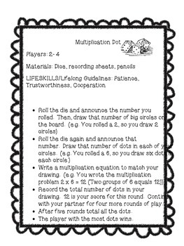 Multiplication Dots Fun