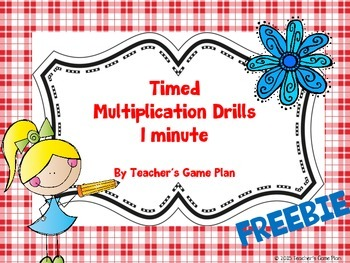 Multiplication Drills One-Minute Timed Tests