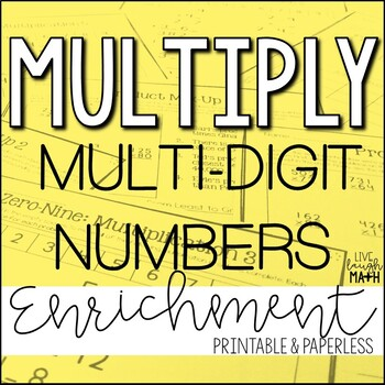 Multiplication Enrichment: Multiplication Logic Puzzles
