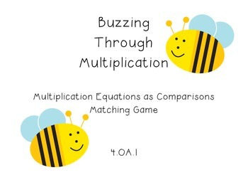 4.OA.1 - Multiplication Equations as Comparison Matching G