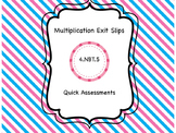 Multiplication Exit Slips