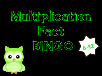Multiplication Fact Bingo 6-12