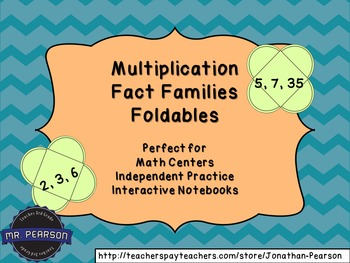 Multiplication Fact Families - 40 Foldables - Perfect for
