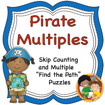 """Skip Counting and Multiplication """"Find the Path"""" Puzzles and Game"""