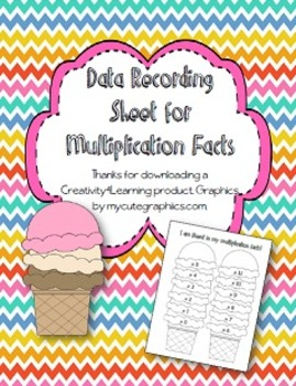 Multiplication Fact Fluency Recording Sheet
