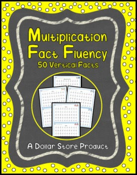 Multiplication Fact Fluency Timed Tests - Vertical 50