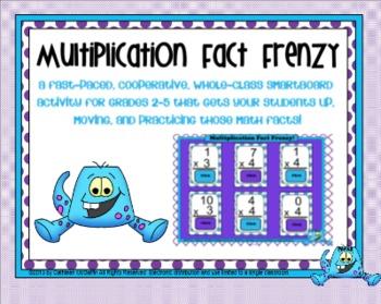 Multiplication Fact Frenzy SMARTBoard Flashcard Activity