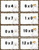 Multiplication Fact Game - Halloween Themed - 2 Options -