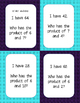 """Multiplication Fact """"I Have...Who Has"""""""