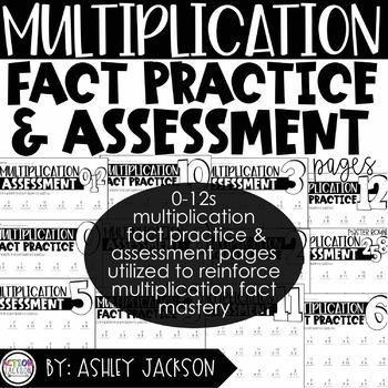 Multiplication Fact Practice & Assessment Pack