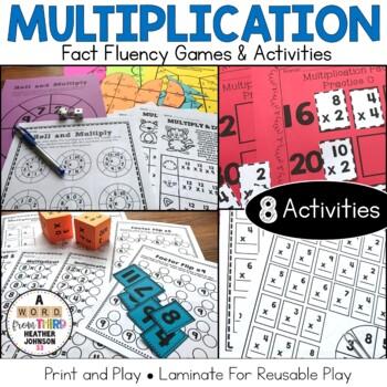 Multiplication Fact Practice Super Bundle: 8 Hands-On Math