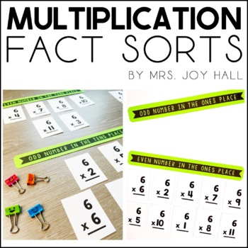 Multiplication Fact Sorts