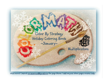 Multiplication Fact Strategy Coloring Book - January Theme