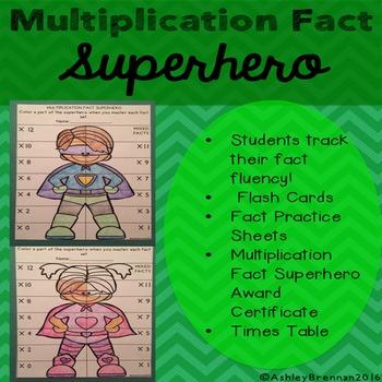 Multiplication Fact Superhero-Fact tracking system - flash