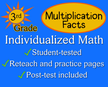 Multiplication Facts, 3rd grade - Individualized Math - wo