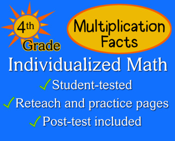 Multiplication Facts, 4th grade - Individualized Math - wo