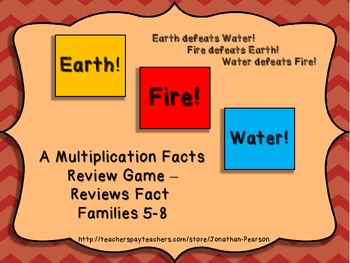 Multiplication Facts 5-8 - Earth! Water! Fire! - An Exciti