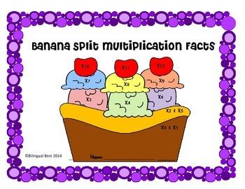 Multiplication Facts - Banana Split