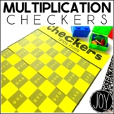 Multiplication Facts Checkers Game for Math Centers and Ma
