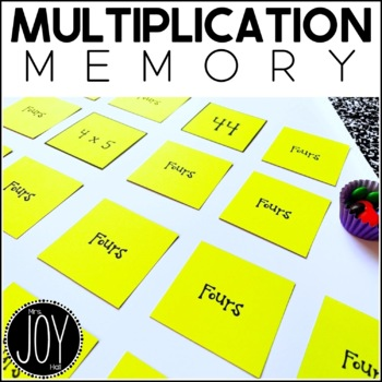 Multiplication Facts Concentration - 13 Different Games Se