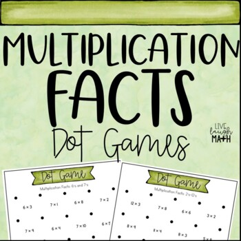 Multiplication Facts Dot Games