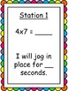 Multiplication Facts Fluency Exercise Activity/Task Cards-