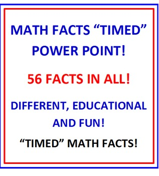 """Multiplication Facts FREE """"TIMED"""" Power Point PREVIEW"""
