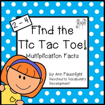 Multiplication Facts: Find the Tic Tac Toe