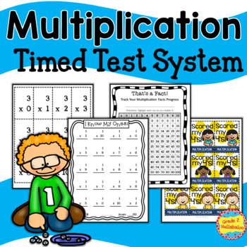 Multiplication -- Flash Cards, Timed Tests, Tracking Forms