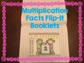 Multiplication Facts Flip-It Interactive Notebooks
