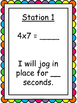 Multiplication Facts Fluency Exercise Activity FREEBIE