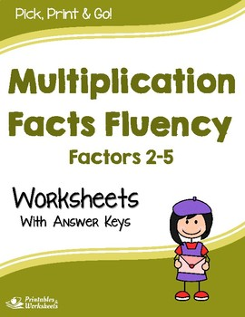 Multiplication Facts Fluency - Multiplying by 2, 3, 4 or 5