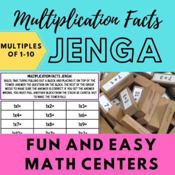Multiplication Facts Jenga!