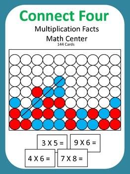 Multiplication Facts Math Center Game (Connect Four)