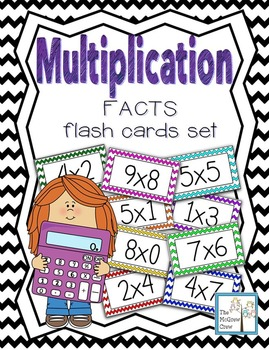 Multiplication Facts Math Flash Cards Set