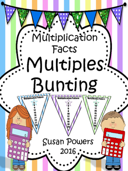 Multiplication Facts Multiples Bunting