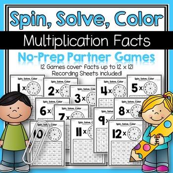 Multiplication Facts No-Prep Partner Games