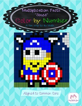"Multiplication Facts: ""Sixes"" Color by Number"