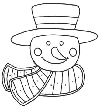 Multiplication Facts Snowman Coloring