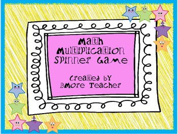 Multiplication Facts Spinner Game