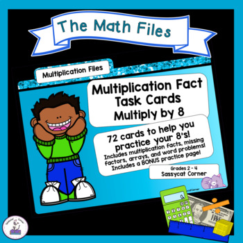 Multiplication Facts Task Cards - Eights Times Tables