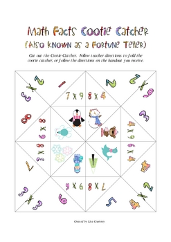 Multiplication Facts Winter Cootie Catcher (Fortune Teller)