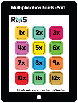 Multiplication Facts iPad: Bulletin Board