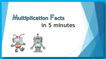 Multiplication Facts in Five Minutes